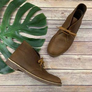 Clarks men's Bushacre beeswax coated Chukka boots